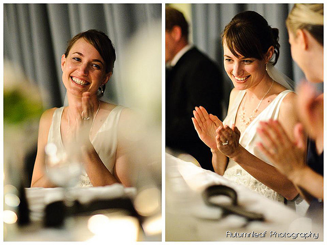 Frances & Bradley's Wedding - Bride at Reception