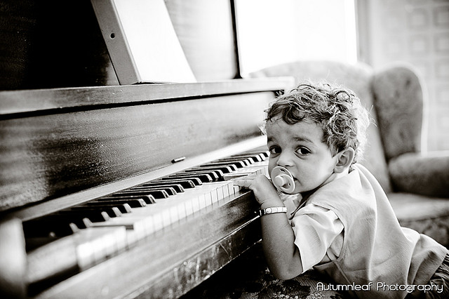 Gloria and Damian - A future pianist?