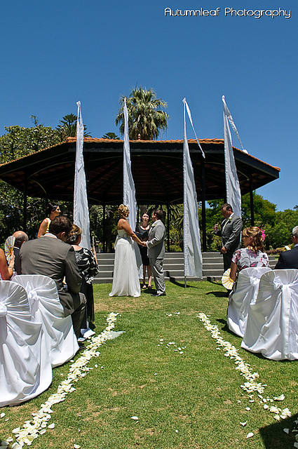 Gloria and Damian - Ceremony at Queens Gardens