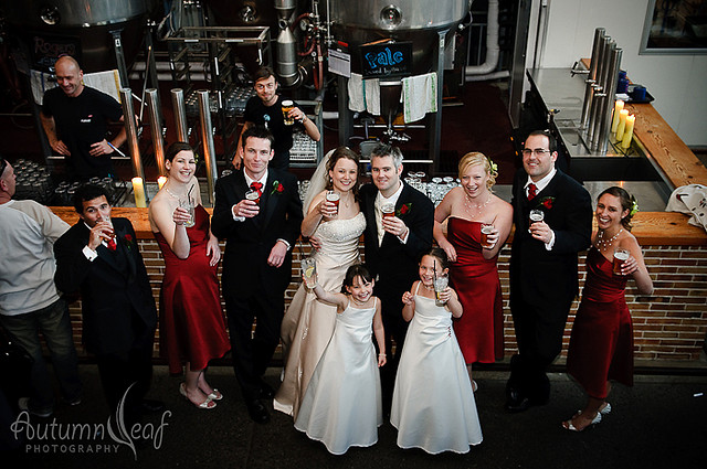 Courtney & Glen's Wedding - A toast to camera at Little Creatures