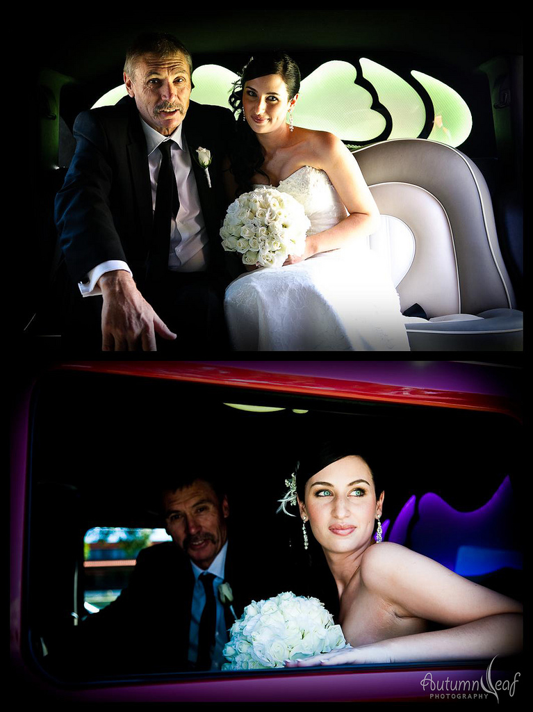Kelly and Birsan -  In the Wedding Car