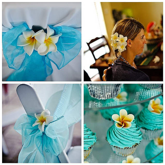 Lea & Todd's Wedding - Frangipanis Theme