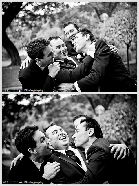 Pamela & Adam's Wedding - Boys Mucking Around