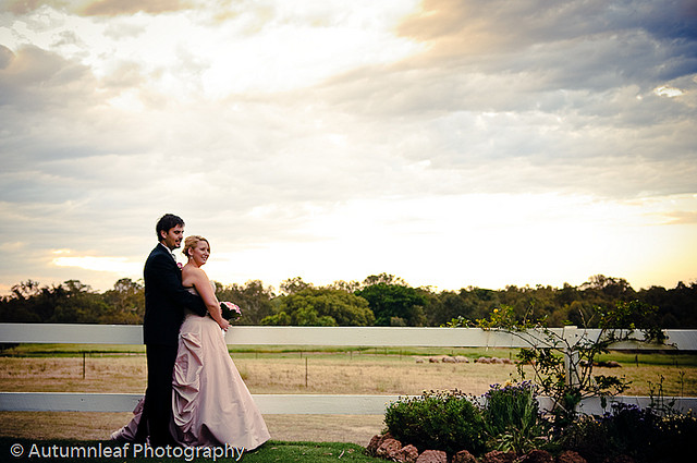 Prue & Paul's Wedding - Sunset at Rosehill Estate