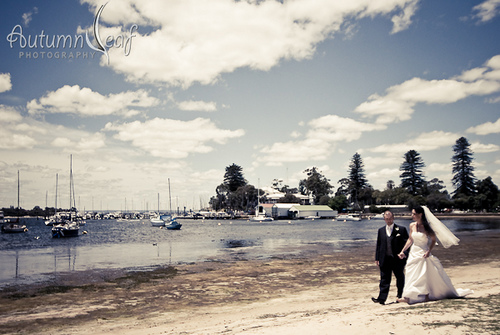 Yvette and Shane's Wedding - A walk along the Mosman bay
